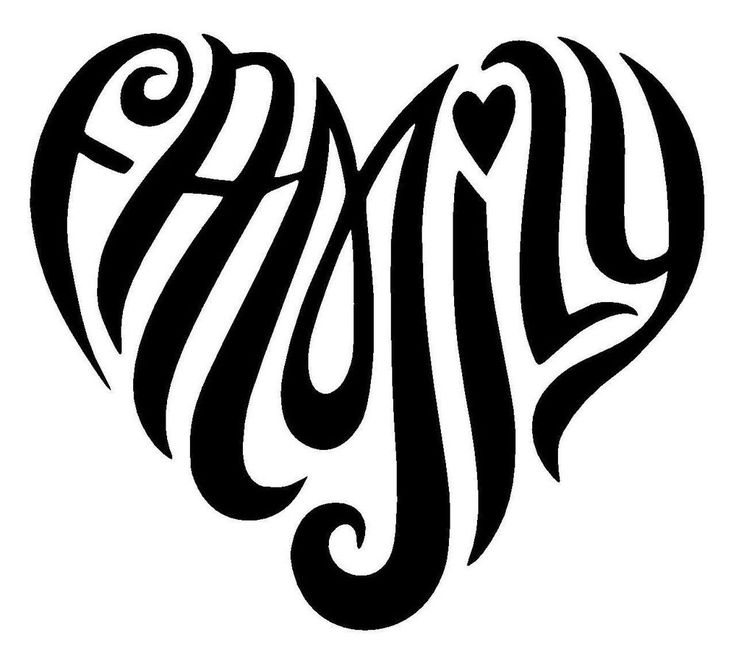 Hippy Family Heart Love Vinyl Decal Sticker Car Window