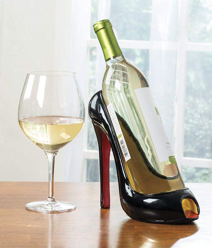 High Heel Shaped Funny Wine Bottle Holder Stand