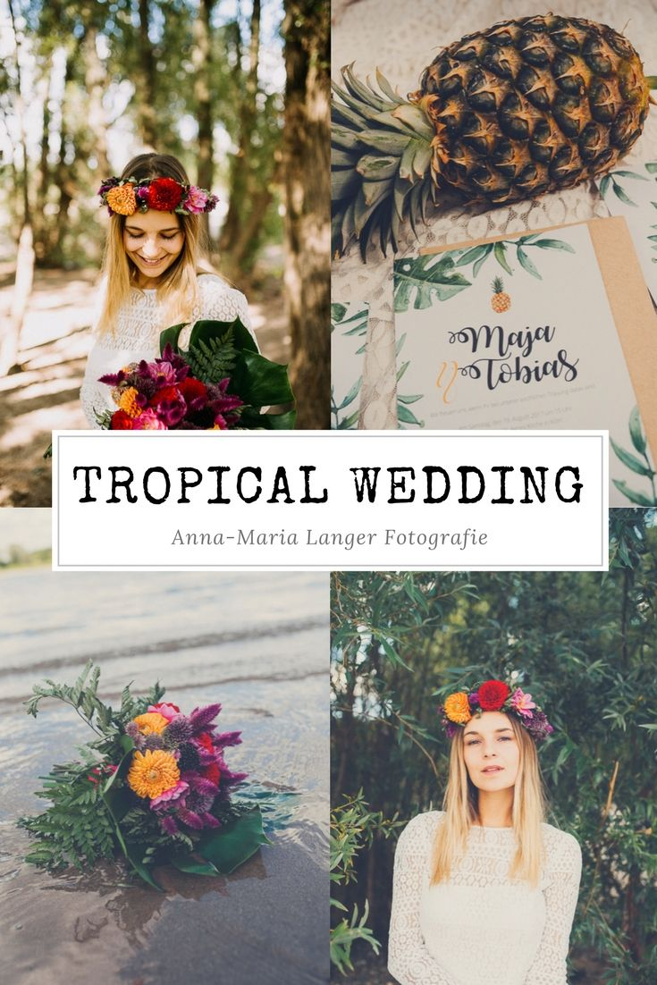 Anna-Maria Langer Fotografie Tropical Bride Braut I Hochzeit I Wedding I Getting Married I Wedding Theme I Ananas I Tropical I Summer I Beach I Strand Hochzeit I Flower Crown I Köln I Hamburg I Berlin I Spitze I Victoria Rüsche