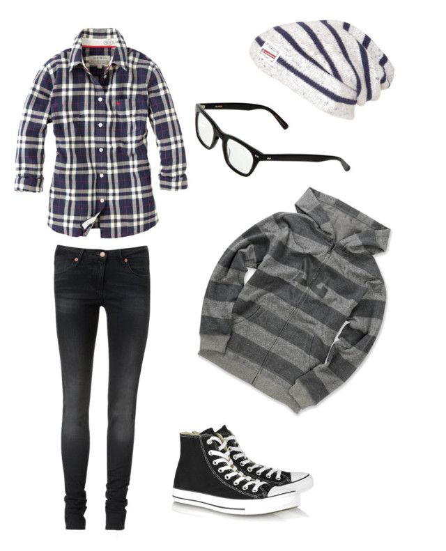 """~le emo outfit (for boys :3)~"" by jayboo-luves-1d-janoskians ❤ liked on Polyvore featuring DC Shoes, sass & bide, Jack Wills, Converse and Blinde"
