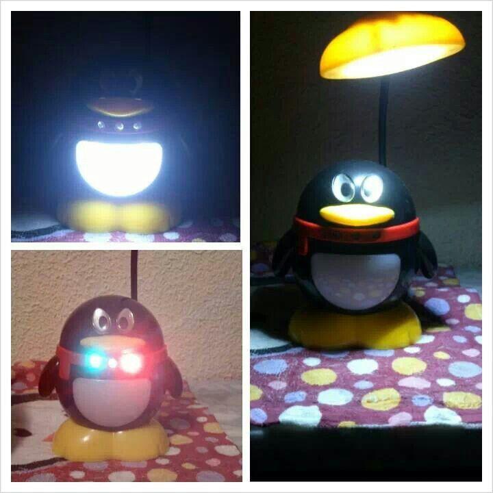 Pingüino - lámpara con 3 posiciones!!!! #penguin