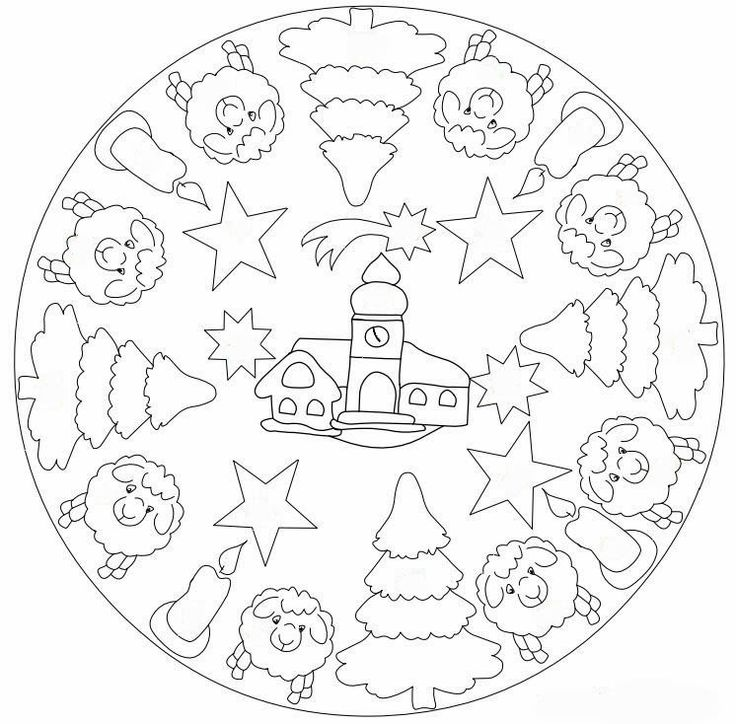 92 best mandala christmas winter images on pinterest coloring pages coloring books and - Mandalas noel ...