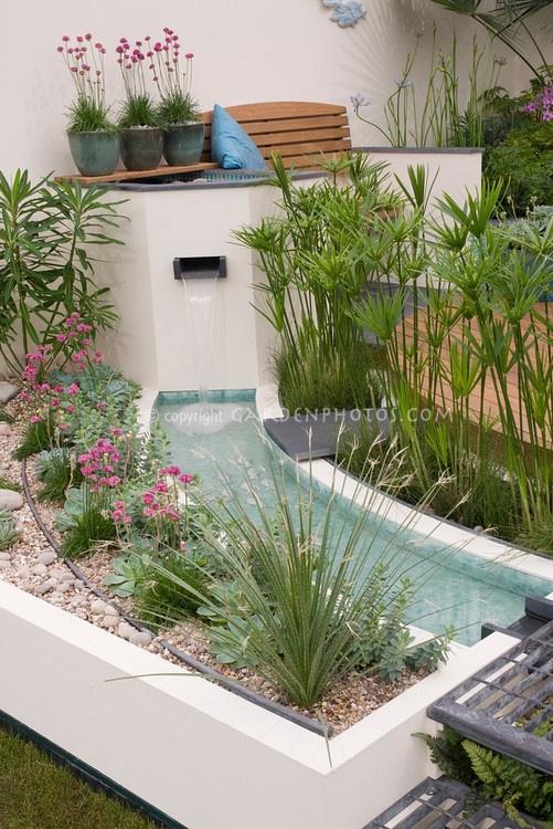 107 besten wasser im garten Bilder auf Pinterest Landschaftsbau - steingarten mit wasserlauf