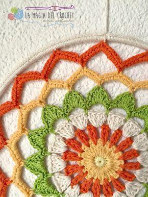 La Magia del Crochet: MANDALA A CROCHET