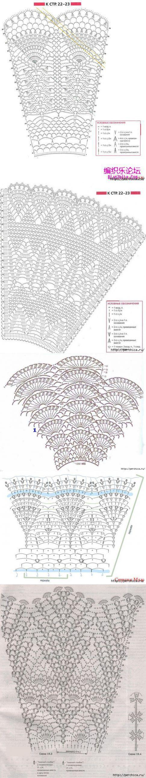 Красивые схемы для вязания детских пышных юбочек