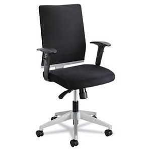 Safco 7031BL Tez Series Manager Synchro-Tilt Task Chair, Mesh Back/Fabric Seat, Black