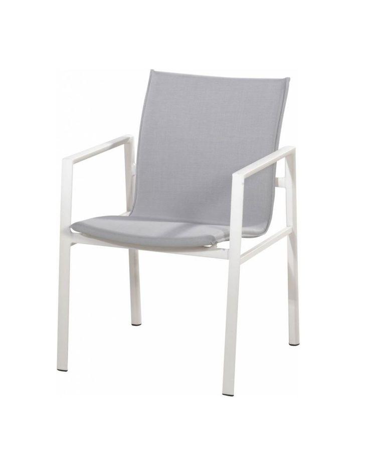 4 Seasons Outdoor | Albion stapelbare stoel wit - Latour Tuinmeubelen