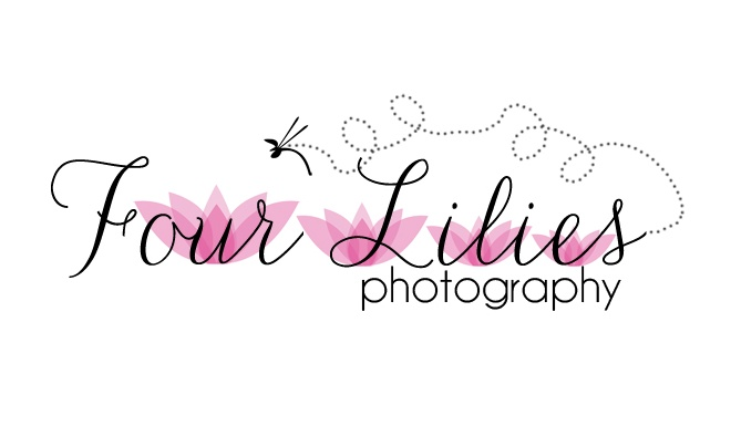 Logo Design for Four Lilies Photography by The Posh Perspective Design Studio
