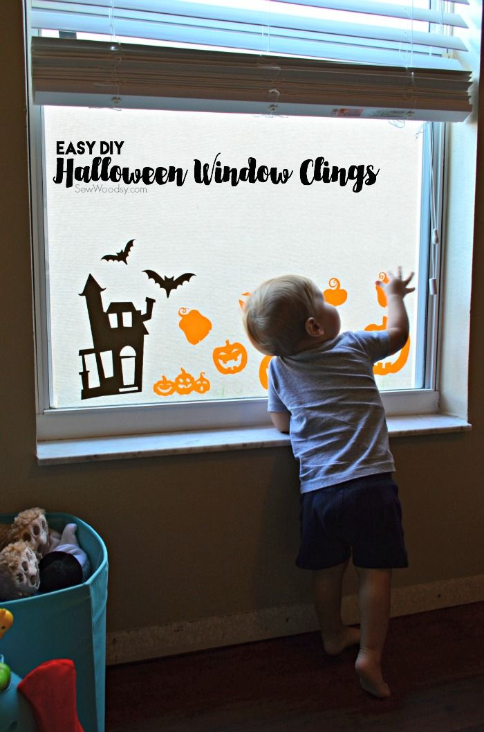 Best Halloween Window Clings Ideas On Pinterest Homemade - How to make window decals with cricut