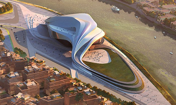 Rabat Grand Theatre (Rabat, Morroco) By Zaha Hadid Architects