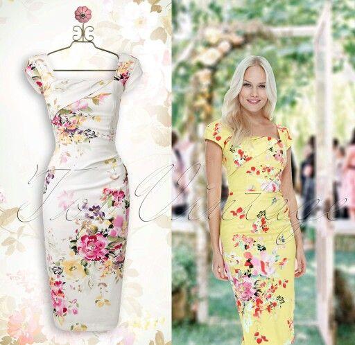 50s Clara Seville dress cream/lemon floral