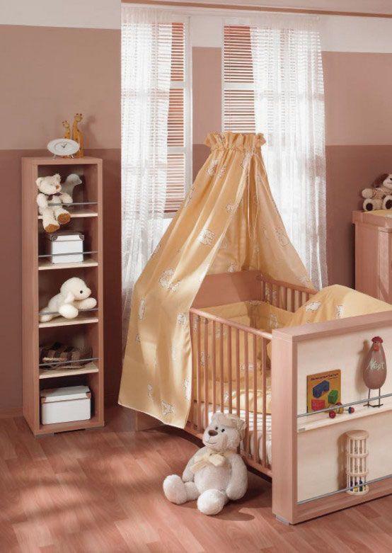 New Baby Nursery Elegant Baby Nursery Design Ideas With Brown Walls And Wooden Floors Bedroom Ideas