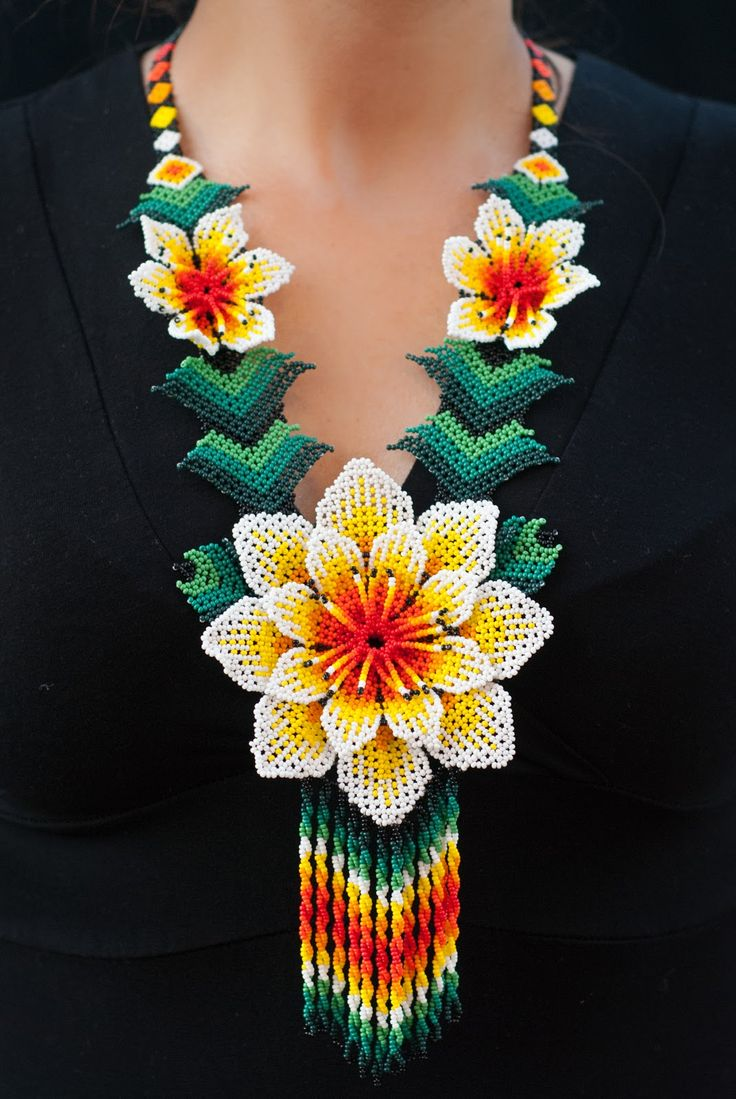 Mexican Necklace #huicholstyle Find more at huicholstyle.com