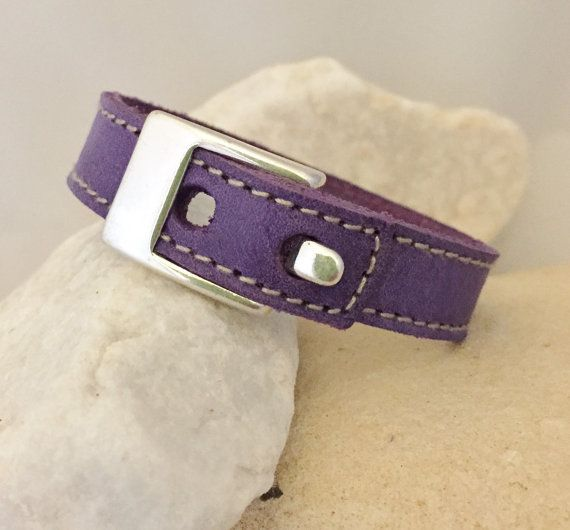 Vintage Leather / distressed suede bracelet