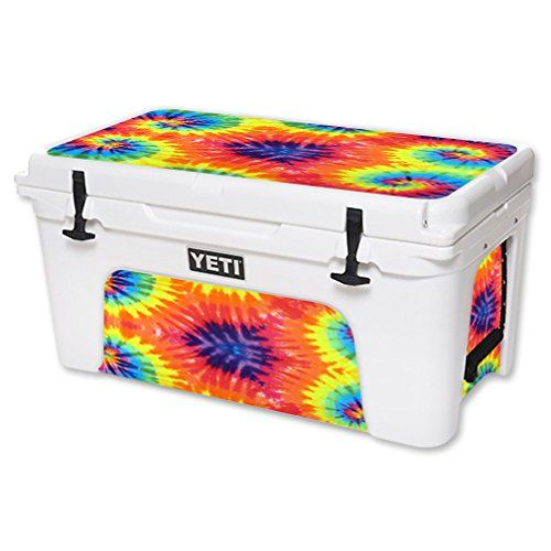MightySkins Protective Vinyl Skin Decal for YETI Tundra 65 qt Cooler wrap cover sticker skins Tie Dye 2 ** To view further for this item, visit the image link.(This is an Amazon affiliate link and I receive a commission for the sales)