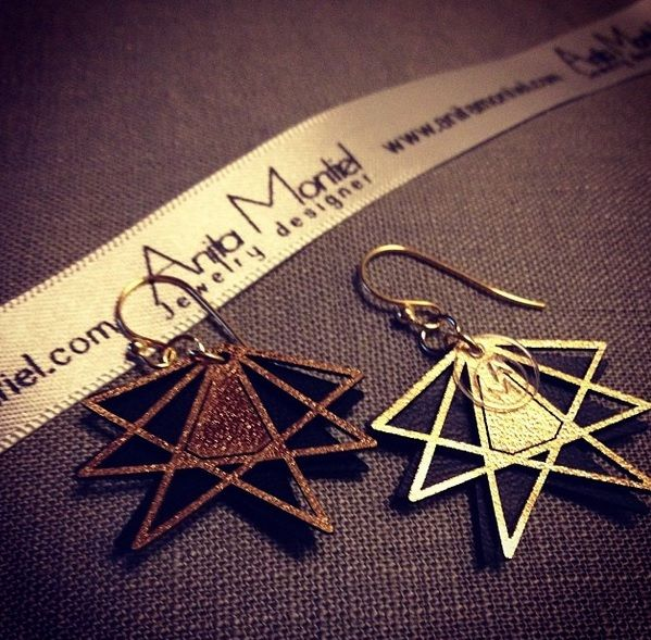 Earrings in leather by AnitaMontiel