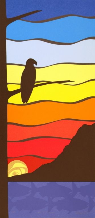 .sky, tree - First Nations art