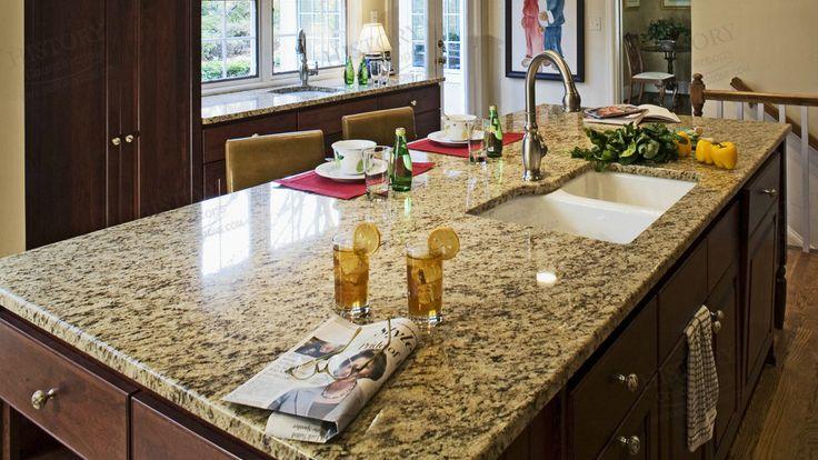 Best Brazil Santa Cecilia Yellow Granite Countertops
