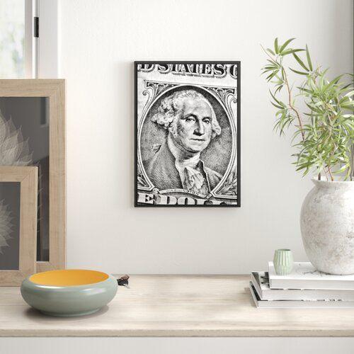 Dollar Bill Framed Graphic Art Print East Urban Home Size: 100 cm H x 70 cm W
