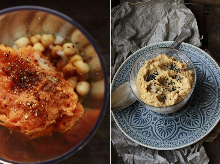 Batátovo-cizrnový hummus