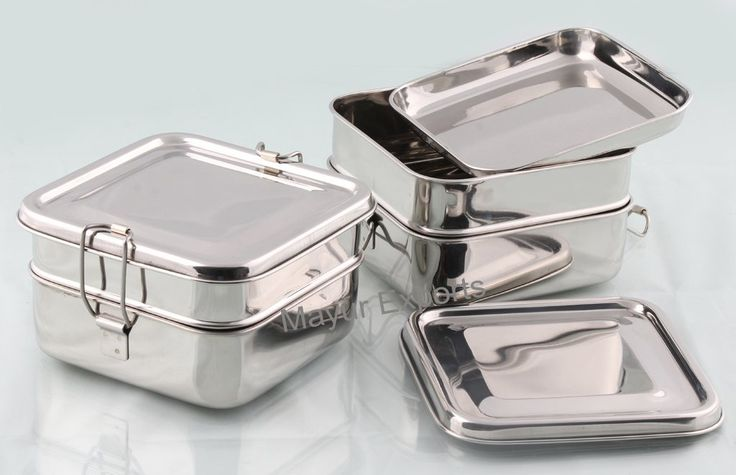 Buy Mayur Exports Stainless Steel Lunch Box - 2 Tier Big Online at Low Prices in India - Amazon.in