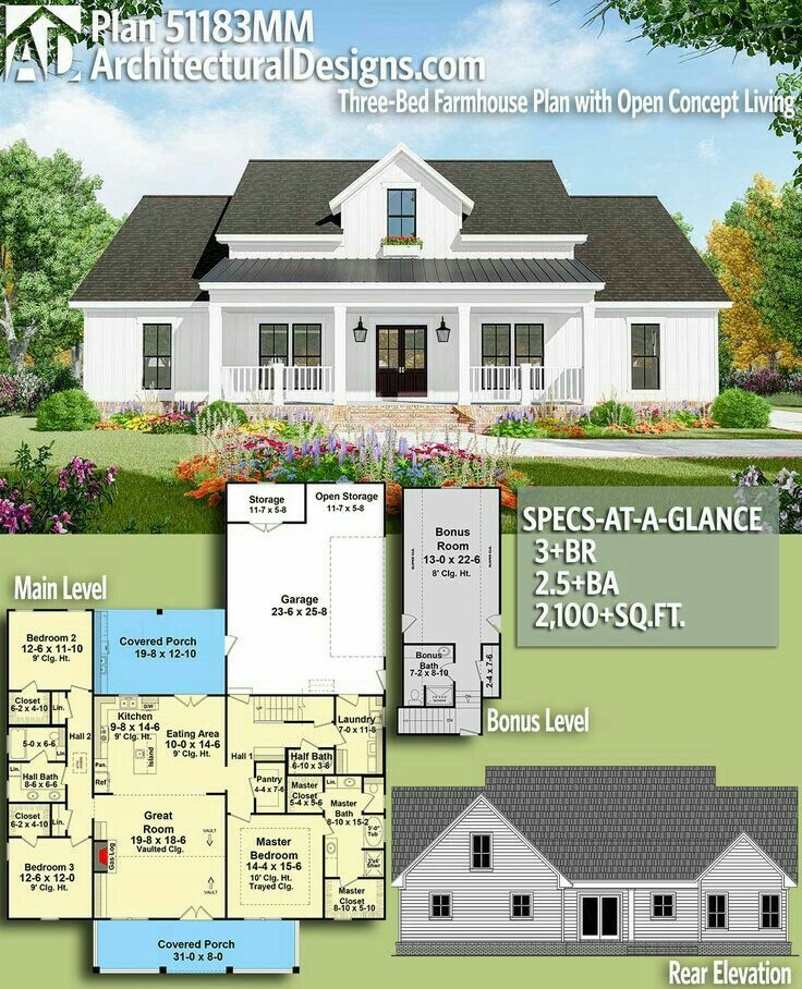 House Collection Added An Rv Garage Shop With Mother In Law Suite On The Garage Side And It S Perfect Farmhouse Plans House Plans Dream House Plans
