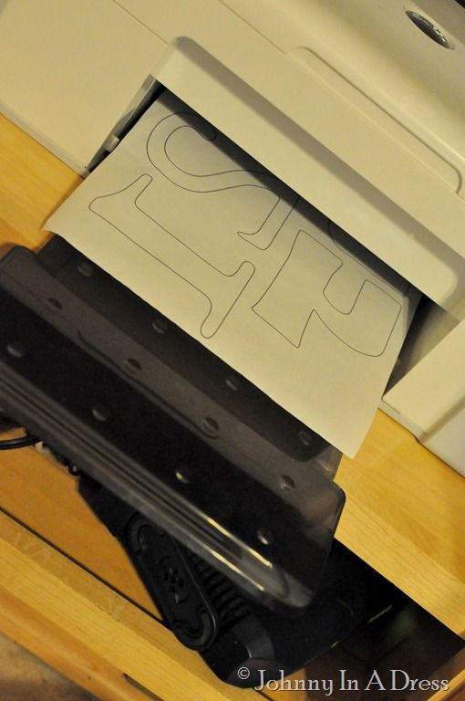How to print on Heat n Bond to applique perfect letters