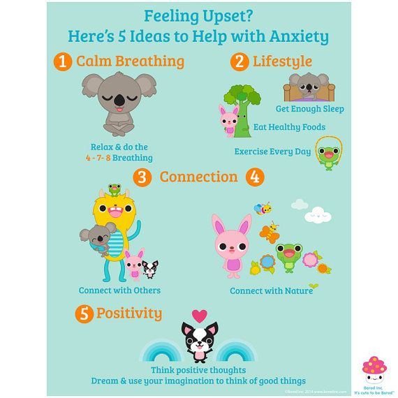 Anti-Anxiety Health and Well-Being Poster for home or by BoredInc