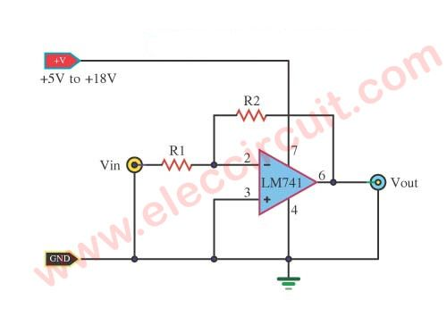 simple lm741 circuits power supply pinterest circuitsingle polarity supply circuit using ic lm741