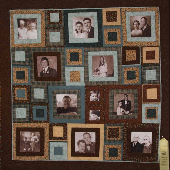39 best Family Tree Quilts images on Pinterest | Photo blanket ... : quilt with family pictures - Adamdwight.com