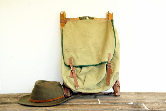 Vintage Camping Backpack Pioneer // Army by Larch Trading Company