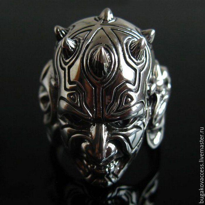 Купить Кольцо Дарт Мол из серебра 925 по фильму Звездные войны - кольцо дарт мол