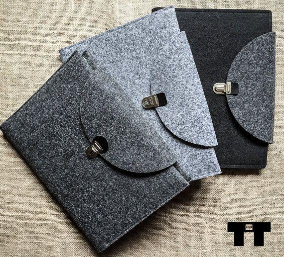 Feltro borsa per notebook. Handmade feltro copertura del taccuino. Formato A4 e A5.