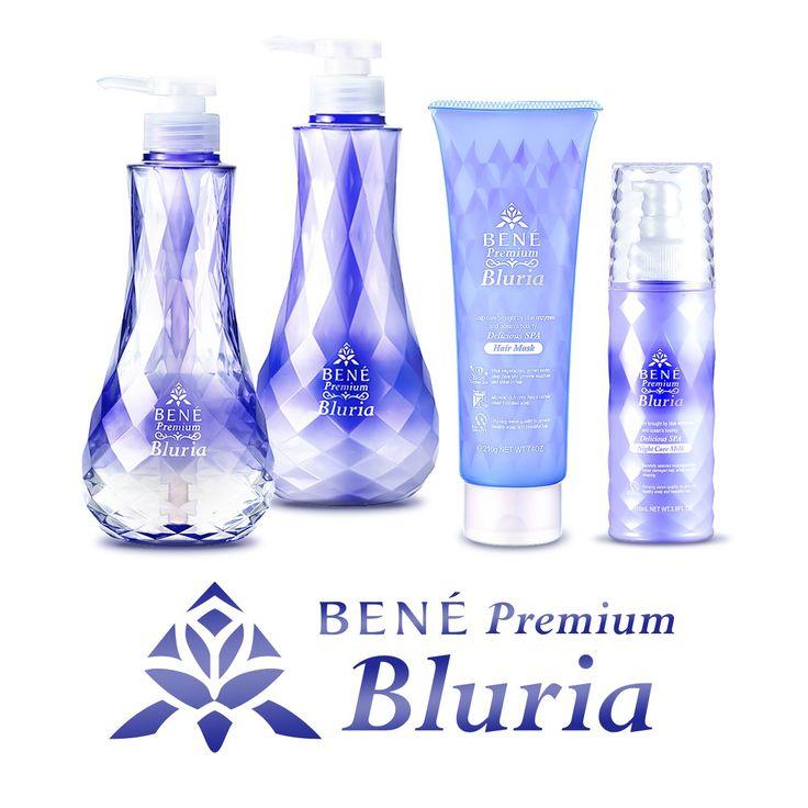もちもちローズ泡のノンシリコンシャンプーと、なめらかクリームのノンシリコントリートメントが、髪と頭皮をやさしく洗い上げる「ブルーリア」の製品一覧です。