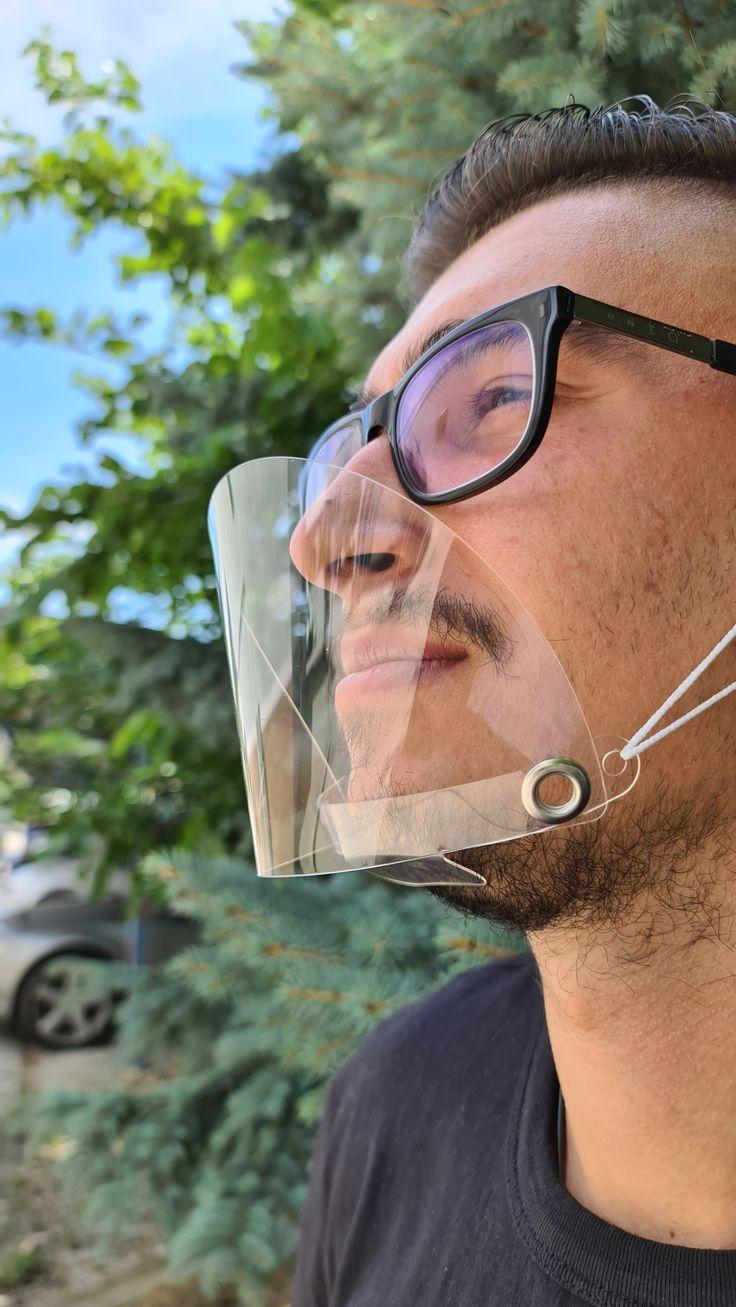 Smile Visible Fashion Mouth Shield.Reusable Plastic