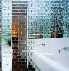 Mirror Tiles Bathroom