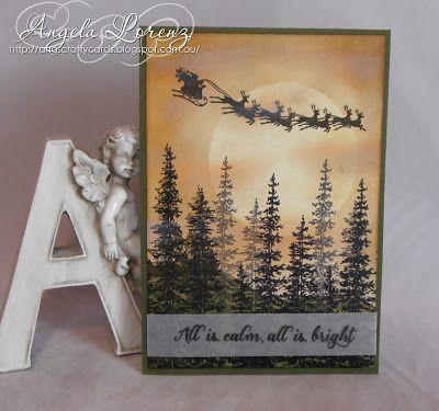 Angela Lorenz - Australian Christmas Card- Wonderland, Cozy Christmas, Stampin Up, #stampinup #wonderland #cozychristmas