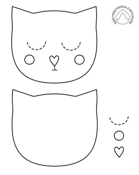 Шаблоны котиков из фетра, фильм свадебная открытка
