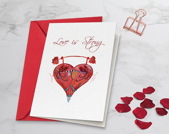 Valentine's card for him Valentine's print