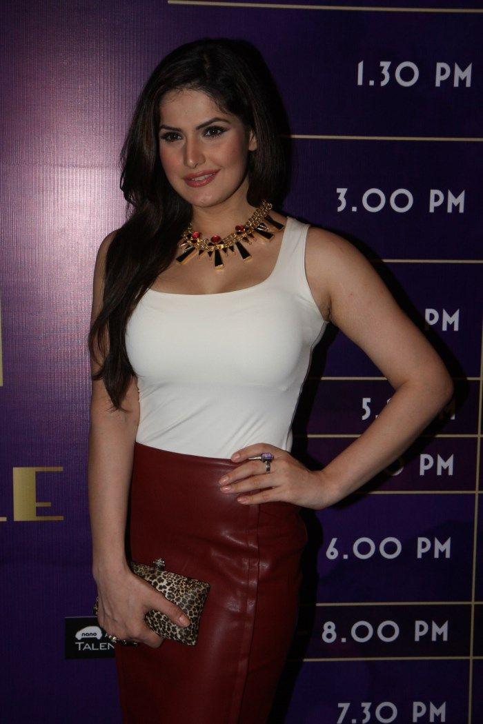 Zarine Khan at winter Lakme India fashion week, 2013