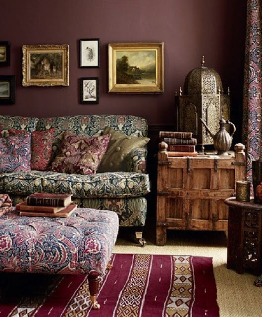 Gypsy house designs plum crazy plum walls pinterest for Crazy living room ideas