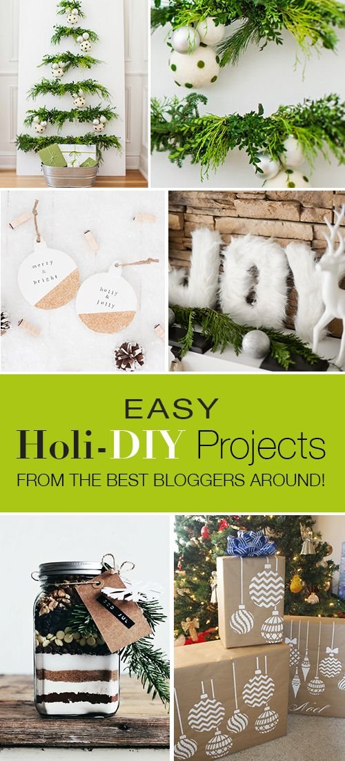 Easy Holiday DIY Projects from the Best Bloggers Around! • Quick and easy holiday DIY projects to make your home holiday happy!