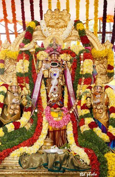 The nine-day annual Brahmotsavams in Lord Kalyana Venkateswara temple at Srinivasa Mangapuram,