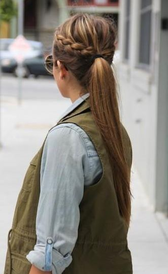 Pony tail and plat