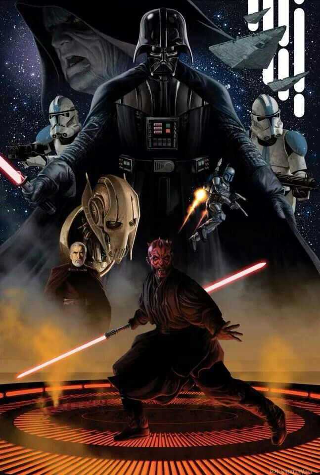 "Star Wars villains... Or protagonists? Who's to say. The brilliant thing about all these ""bad"" guys is their touching back stories. If I had been through what Grievous had I would hate the Jedi too. Think about it, it's all perception. L"