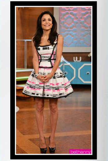 "Buy Bethenny Frankel's pink and black Milly Piper Party Dress - ""Bethenny"" (September 9, 2013)."