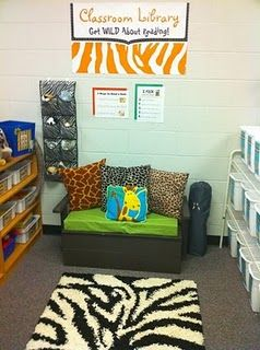 Cute idea for hiding a listening center if you are limited in classroom space