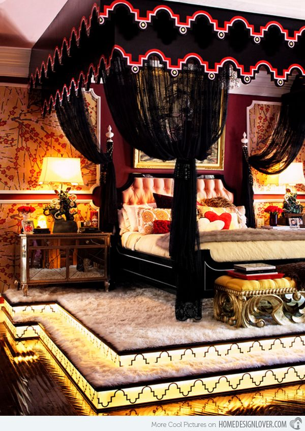 15 Gorgeous Gothic Bedroom Ideas   Home Design Lover