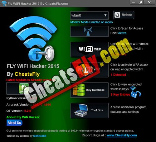 Fly WiFi Password Recovery