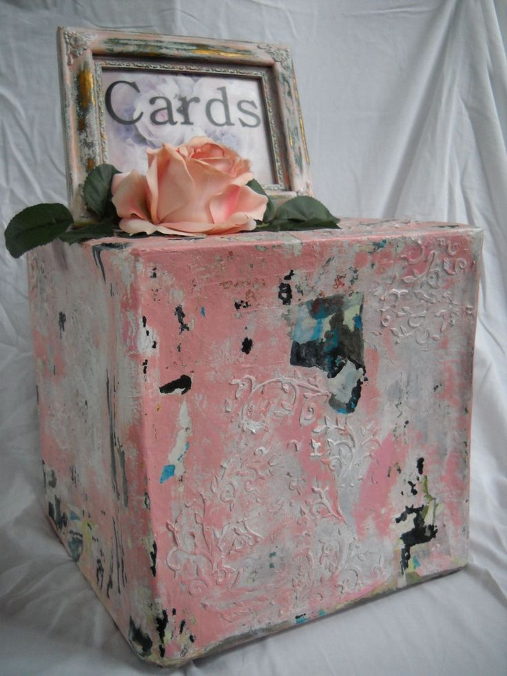 Vintage Wedding Card Box With Embossed Faux Metal By TaliasTree On Etsy